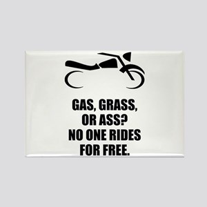 Motorcycle Gas Grass Ass Magnets