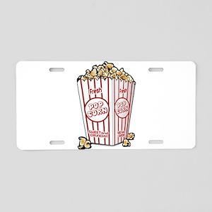 Movie Popcorn Aluminum License Plate