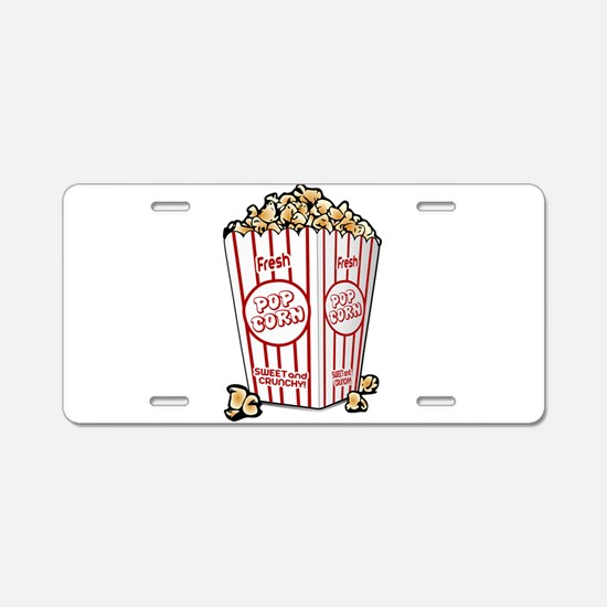 Movie Popcorn Aluminum License Plate