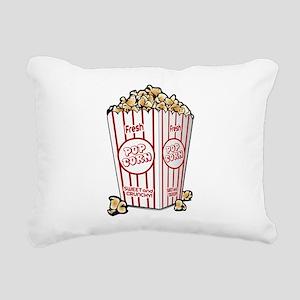 Movie Popcorn Rectangular Canvas Pillow