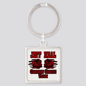 Old School Dogs Square Keychain