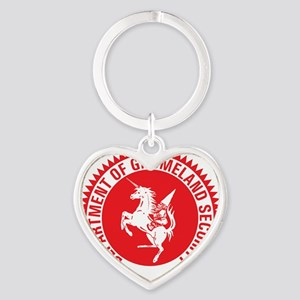 GNOMELAND SECURITY Heart Keychain