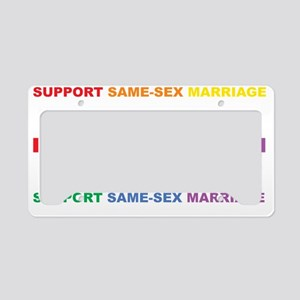 Love-Equal-Rights-LGBT-blk License Plate Holder
