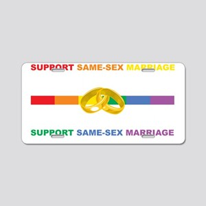Love-Equal-Rights-LGBT-blk Aluminum License Plate