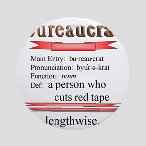 Bureaucrat Round Ornament