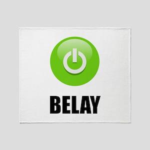 On Belay Throw Blanket