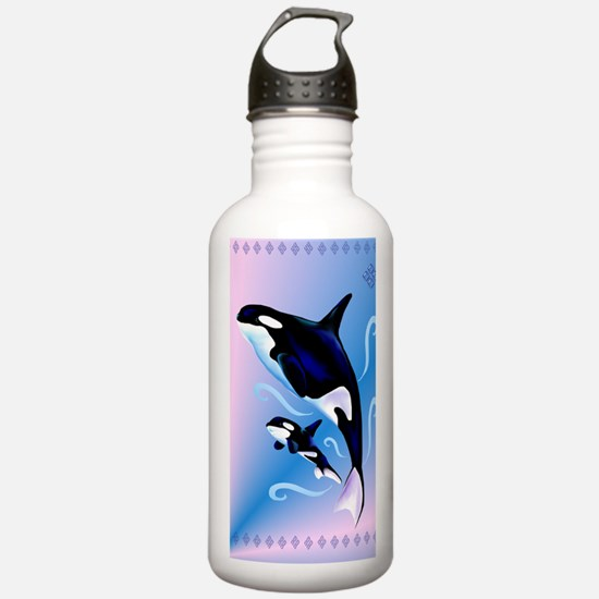 Orca Mom and Baby_jour Water Bottle
