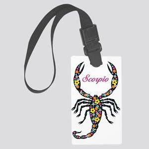 flowered scorpion thong Large Luggage Tag