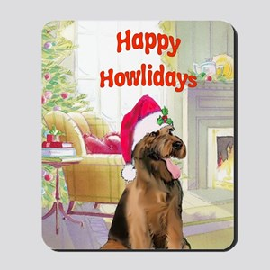 2-airedale card Mousepad