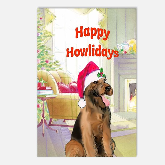 2-airedale card Postcards (Package of 8)