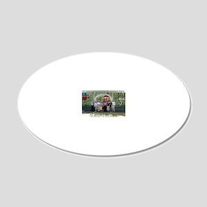 El Hogar 20x12 Oval Wall Decal