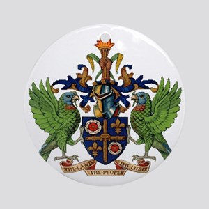 Coat_of_arms_of_saint_lucia Round Ornament