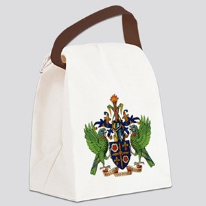 Coat_of_arms_of_saint_lucia Canvas Lunch Bag