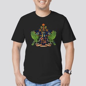 Coat_of_arms_of_saint_ Men's Fitted T-Shirt (dark)