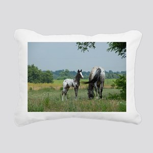 Amigo and Faith, Palisad Rectangular Canvas Pillow