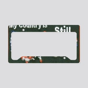 my country under god License Plate Holder