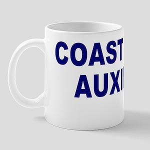 USCGAux-Text-Blue Mug