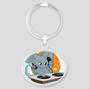 Mousehouse Oval Keychain