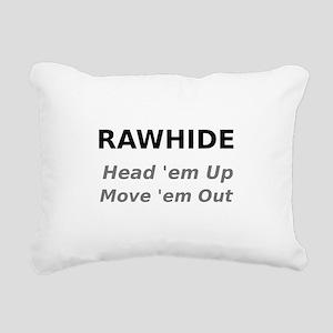 Rawhide Head em up Move em out Rectangular Canvas