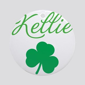 kellie-apron Round Ornament