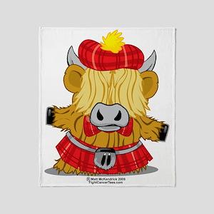 Highland-Cow-Red-Kilt-2009 Throw Blanket