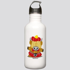 Highland-Cow-Red-Kilt- Stainless Water Bottle 1.0L