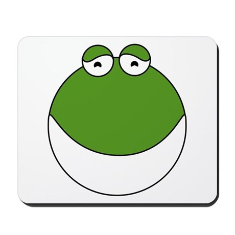 Cartoon Frog Face Mousepad by AnimalLoverGifts