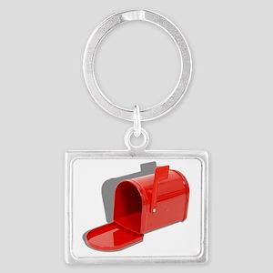MailboxOpen051409shadows Landscape Keychain
