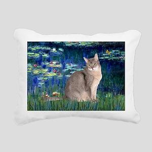 Lilies 5 - Abyssinian (b Rectangular Canvas Pillow