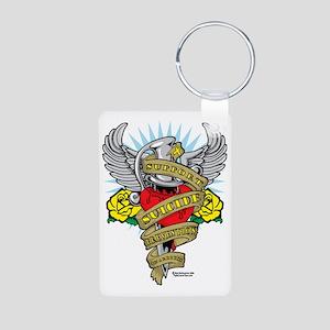 Suicide-Prevention-Dagger Aluminum Photo Keychain