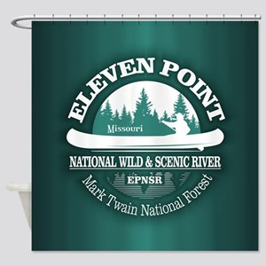 Eleven Point River Shower Curtain