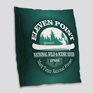 Eleven Point River Burlap Throw Pillow
