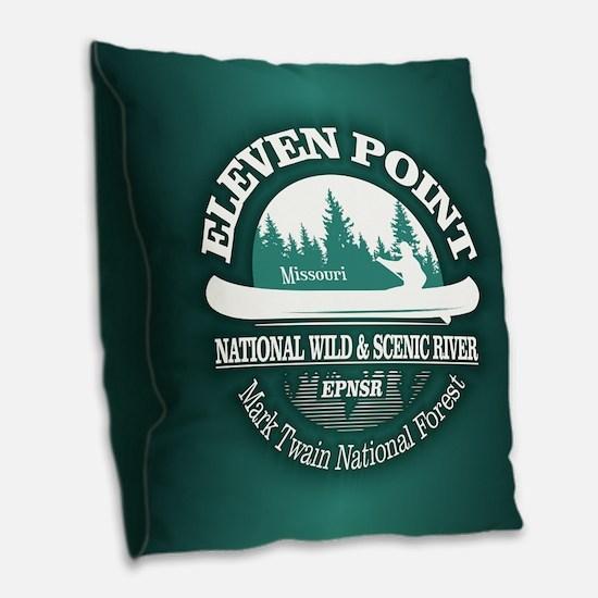 Eleven Point River Burlap Throw Pillow