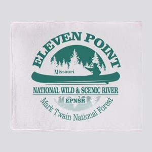 Eleven Point River Throw Blanket