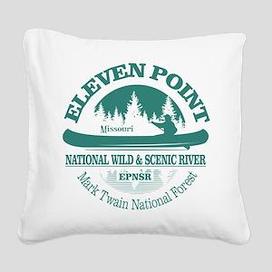 Eleven Point River Square Canvas Pillow