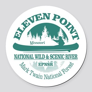 Eleven Point River Round Car Magnet