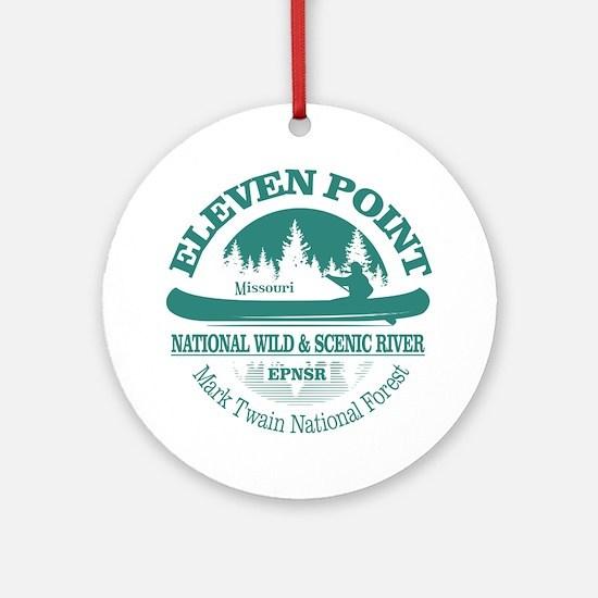 Eleven Point River Round Ornament