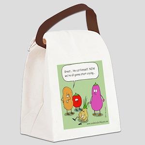 onioncolorwebstamp Canvas Lunch Bag