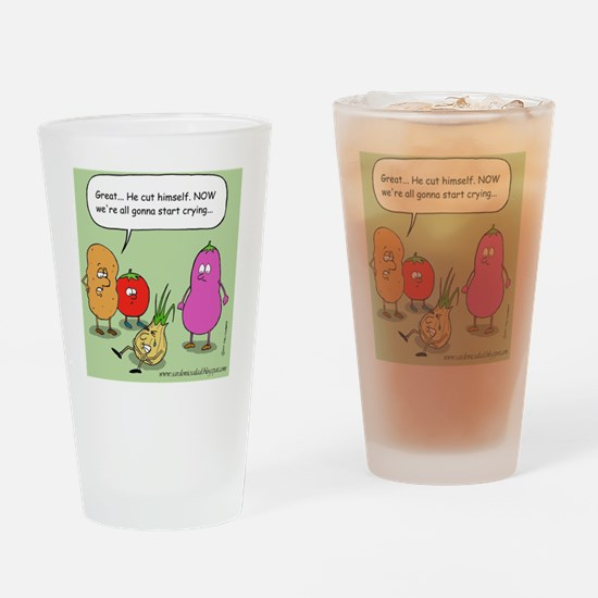 onioncolorwebstamp Drinking Glass