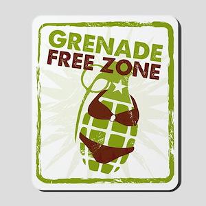 Grenade Free Zone Mousepad