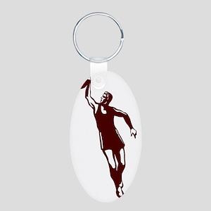 j0282044_CRIMSON Aluminum Oval Keychain
