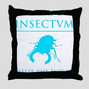 Carpe Insetum D blue 2 Throw Pillow