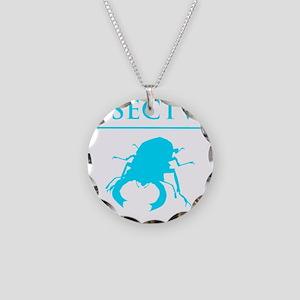 Carpe Insetum D blue 2 Necklace Circle Charm