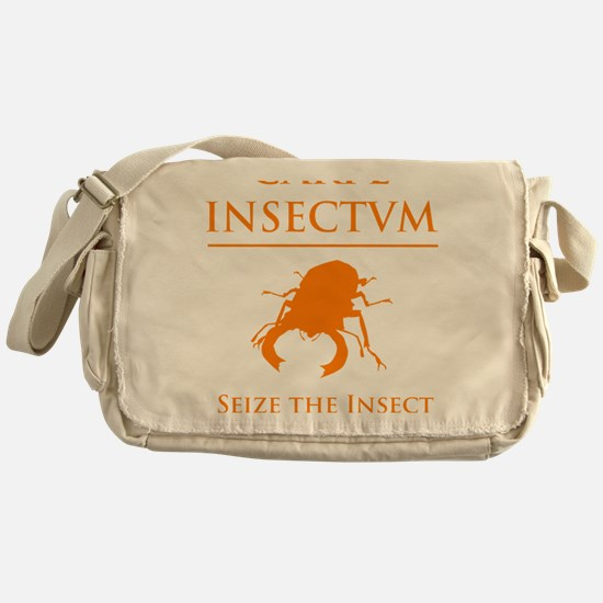 Carpe Insetum D orange 2 Messenger Bag