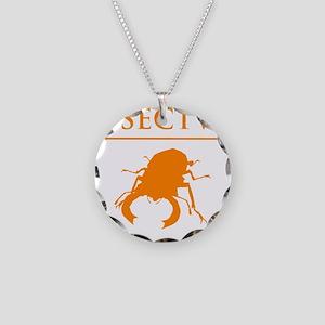 Carpe Insetum D orange 2 Necklace Circle Charm