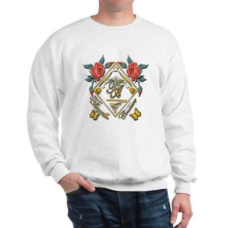 Wht Gld_wmn10 x 10 copy Sweatshirt