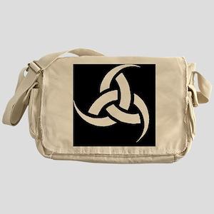 Triple Horn wht on blk Messenger Bag