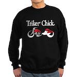 Triker Chick, Trike, on black Sweatshirt