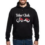 Triker Chick, Trike, on black Hoodie