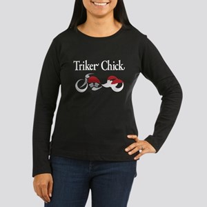 Triker Chick, Trike, on black Long Sleeve T-Shirt